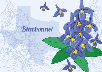 Texas Bluebonnet Flower - бесплатный vector #444371
