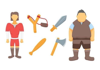 Free Outstanding David and Goliath Vectors - vector #444381 gratis