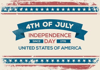 Grunge Fourth of July Illustration - бесплатный vector #444421