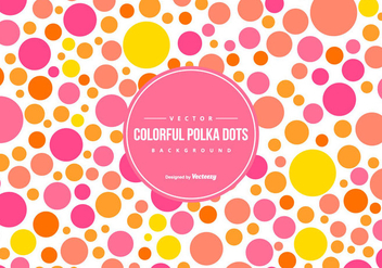 Cute Colorful Polka Dot Backgound - vector #444431 gratis