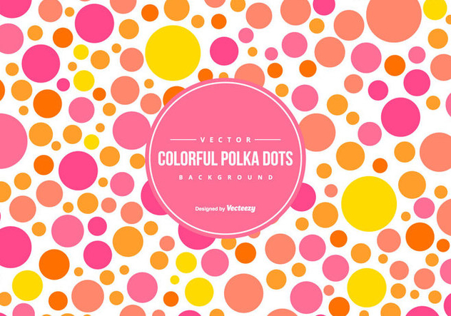 Cute Colorful Polka Dot Backgound - Kostenloses vector #444431