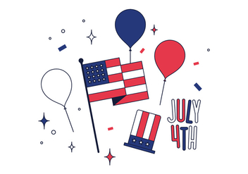 Free 4th Of July Vector - vector #444441 gratis