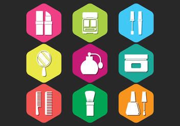 Beauty Clinic Icons Set - vector #444501 gratis