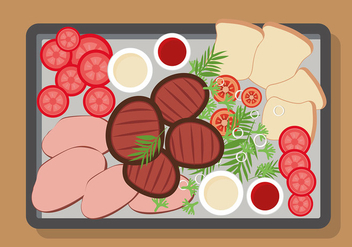 Charcuterie Plate Free Vector - Free vector #444571