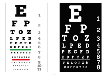 Vector Eye Test Charts - vector gratuit #444591