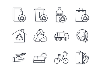 Free Environmental & Waste Management Icon Set - Free vector #444621