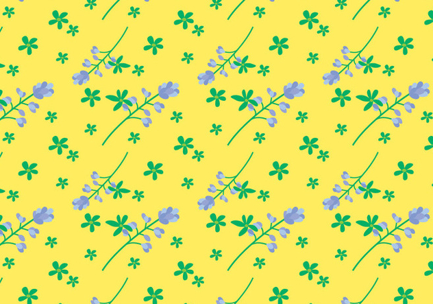 Bluebonnet Flower Pattern - vector gratuit #444641