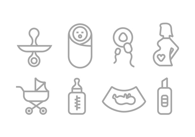 Maternity Vector Icons - Free vector #444741