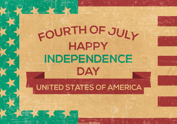 Retro Grunge Independence Day Background - vector gratuit #444791