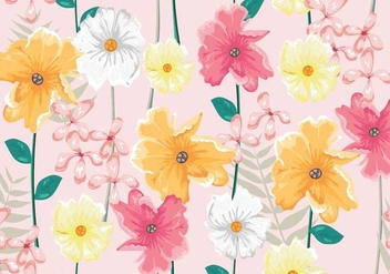 Ditsy Realist Seamless Pattern Vector - Free vector #444801