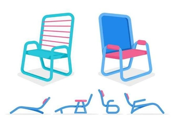 Free Unique Lawn Chair Vectors - vector gratuit #444811