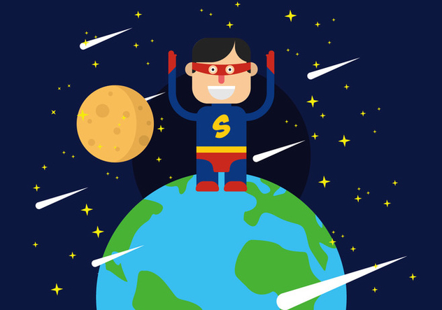 Super Heroes Illustration - Free vector #444821