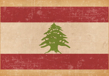 Old Grunge Flag of Lebanon - бесплатный vector #444961