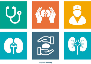 Urology Related Icon Collection - Free vector #444971