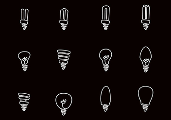 Hand Drawn Light Bulb - vector gratuit #445001
