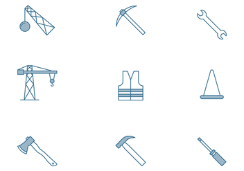 Home And Construction Icon - Free vector #445031