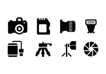 Photography tools vector icon - vector gratuit #445061