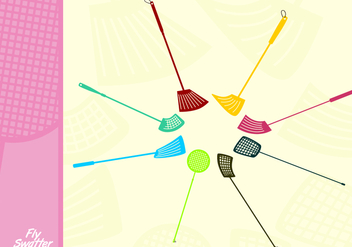 Plastic Fly Swatter Free Vector - Free vector #445101