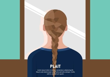 Girl with Braid or Plait Background - vector gratuit #445111