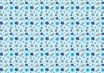 Ditsy Aqua Background Free Vector - vector #445161 gratis