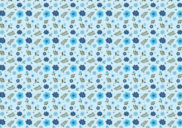 Ditsy Aqua Background Free Vector - vector gratuit #445161