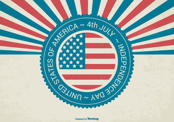 Retro Independence Day Background - Free vector #445201