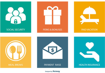 Employment Benefits Icon Collection - vector #445211 gratis