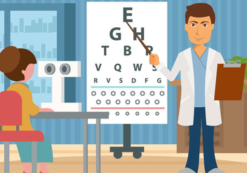 Eye Test Vector - vector gratuit #445241