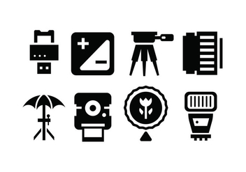 Camera accessory icons - vector gratuit #445261