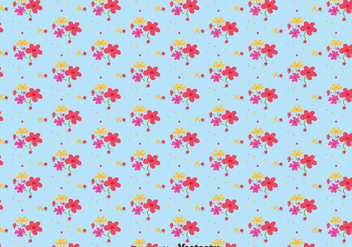 Flower Ditsy Print Pattern Vector - бесплатный vector #445341