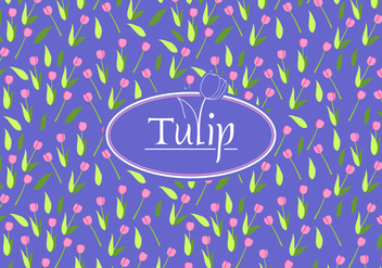 Tulip Disty Pattern Free Vector - vector gratuit #445351