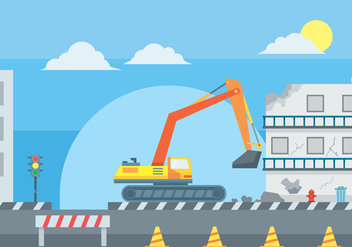 Illustration of Building Demolition - Free vector #445401