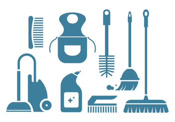 Cleaning tool vector icons - vector gratuit #445431
