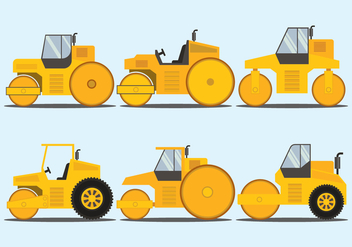 Road Roller Vector Set - Kostenloses vector #445471