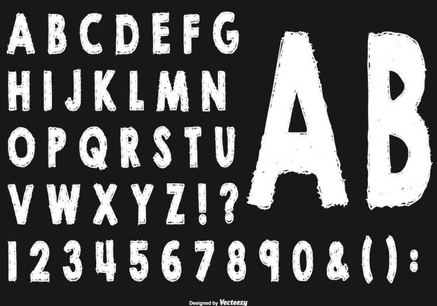 Sketchy Style Alphabet Collection - Free vector #445491