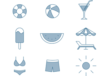 Summer Icons - Kostenloses vector #445501