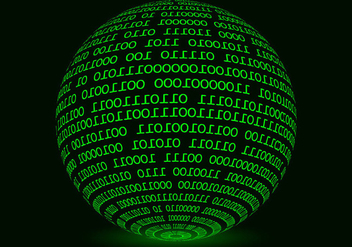Glowing Sphere Matrix Background Vector - Free vector #445541