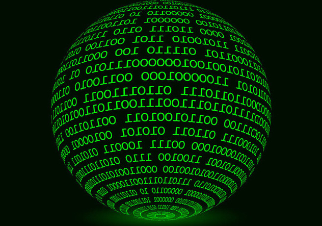 Glowing Sphere Matrix Background Vector - бесплатный vector #445541