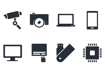Gadget Icon and Accecories - Free vector #445731