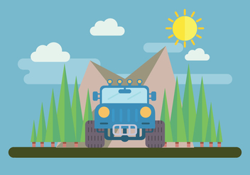 4WD Adventure Vector - Free vector #445751