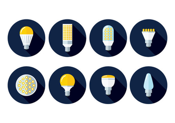 LED Lights Icons - vector #445781 gratis