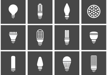 LED Lights Icons - Free vector #445791