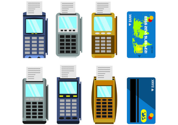 Set Of Card Reader Vectors - vector gratuit #445801