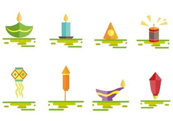 Free Diwali Fire Cracker Icons Vector - Free vector #445851