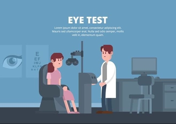 Eye Test Illustration - Free vector #445871