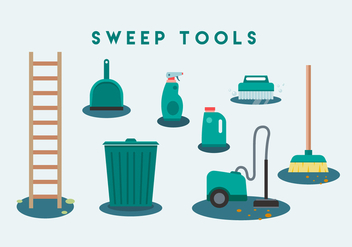 Free Sweep Tools Vector Icon - Free vector #445891