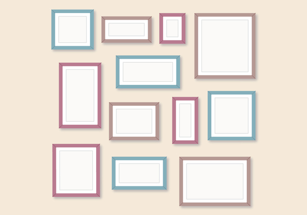 Set Of Frames - vector #445961 gratis