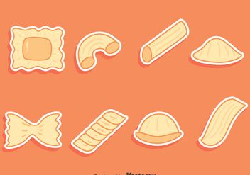Pasta Variation Collection Vectors - Free vector #445971