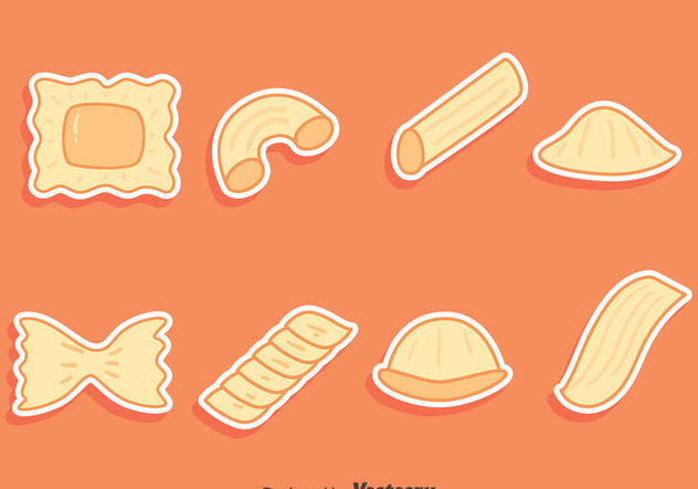 Pasta Variation Collection Vectors - Kostenloses vector #445971
