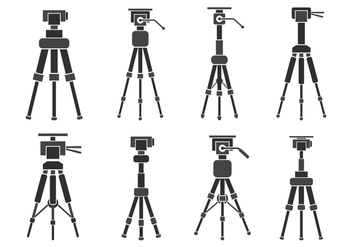 Camera Tripod Vector Icons - Free vector #445991